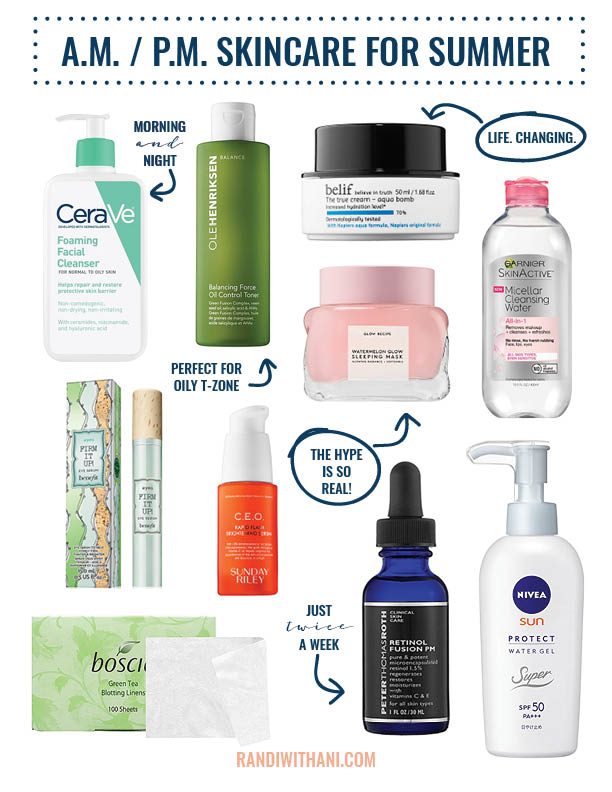 Current Summer Skincare Routine 183 Randi With An I