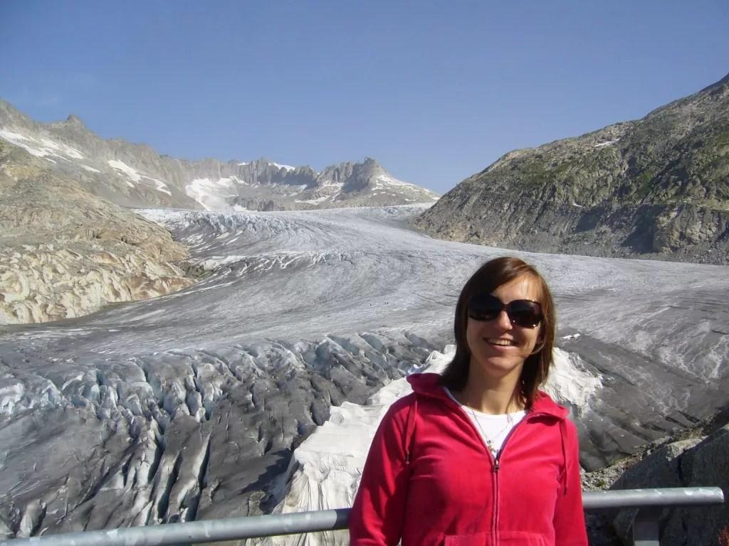 Lodowiec Rodanu Furka Pass Szwajcaria