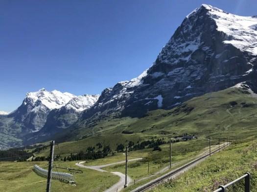 Eiger, widok z Kleine Scheidegg