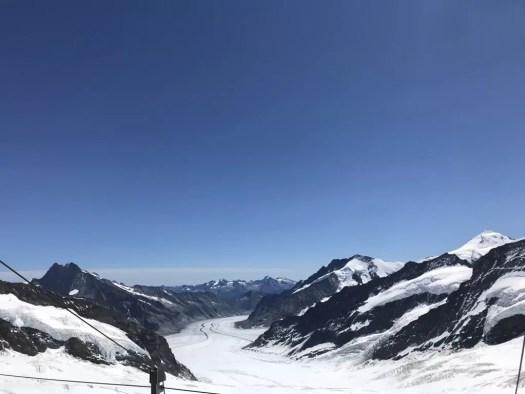 widok na lodowiec Aletsch