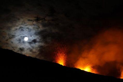 Eruption du Piton de la Fournaise le 4 février 2015 (1)
