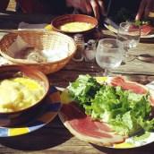 Assiette montagnarde au refuge du Chioula