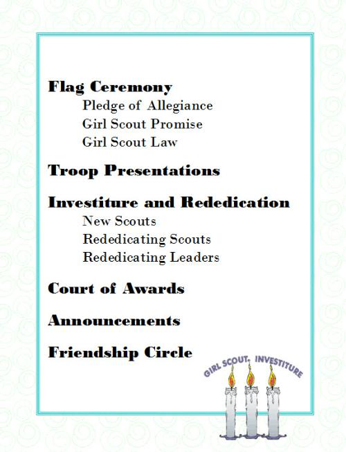Brownie Girl Scouts Rededication Ceremony Just BCAUSE