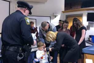 Randolph and North Attleboro Police Departments Make 3-Year-Old Mikey Grover an Honorary Police Officer