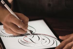 Apple Pencilで絵を描く写真