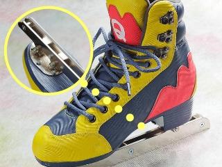 二枚刃スケート靴