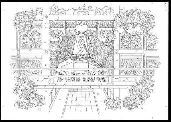 歌舞伎絵巻ぬりえbook3
