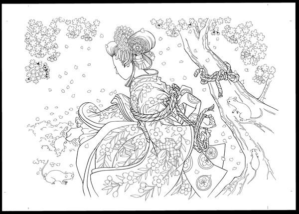 歌舞伎絵巻ぬりえbook4