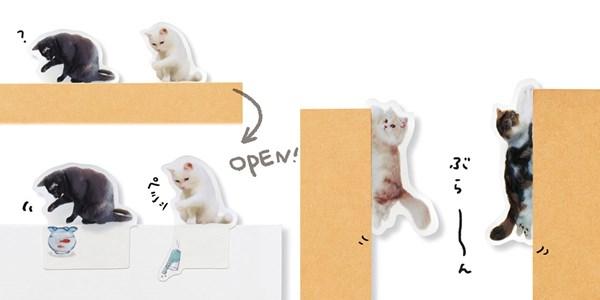 ノートで遊ぶ猫ふせん〈パート2〉