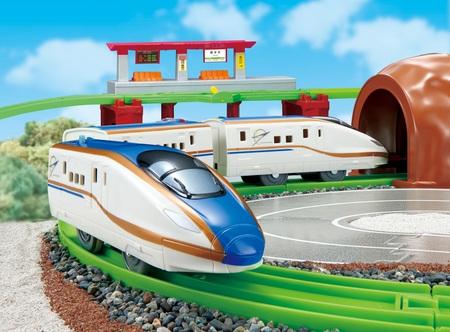 にぎやかアナウンス!サウンドE7系新幹線かがやきレールセット