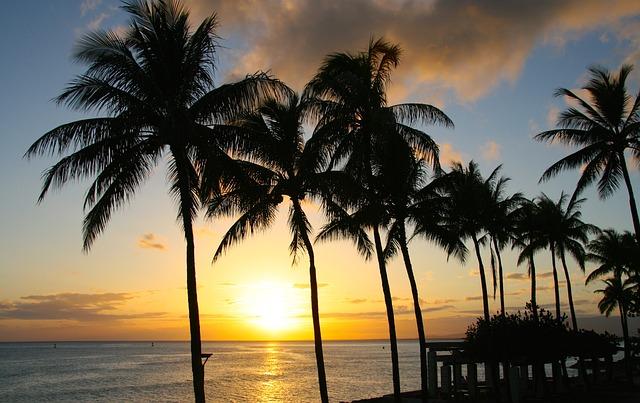 ハワイの夕日