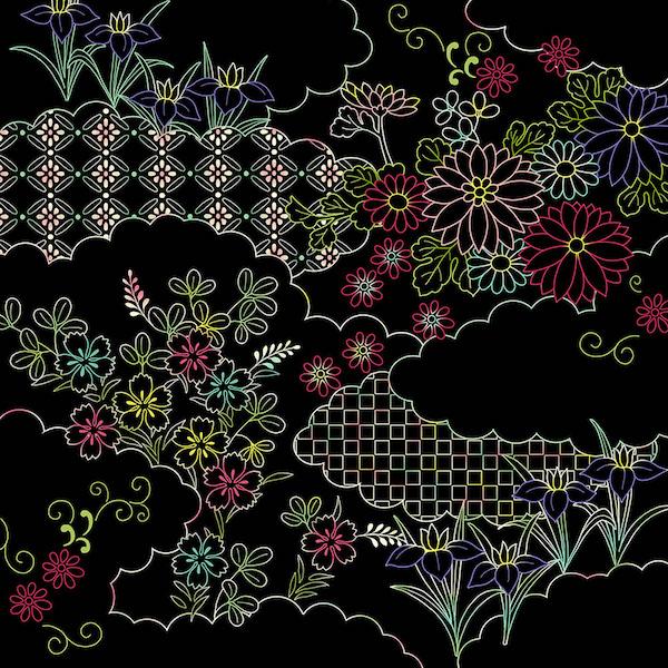『自律神経を整えるスクラッチアート 癒やしの花園/なごみの和柄』