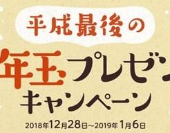 「平成最後のお年玉プレゼントキャンペーン」