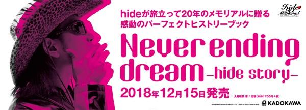 『Never ending dream -hide story-』大型看板
