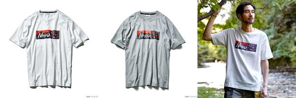 NANGAロゴと「Zガンダム」を組み合わせた、ボックスロゴデザインTシャツ