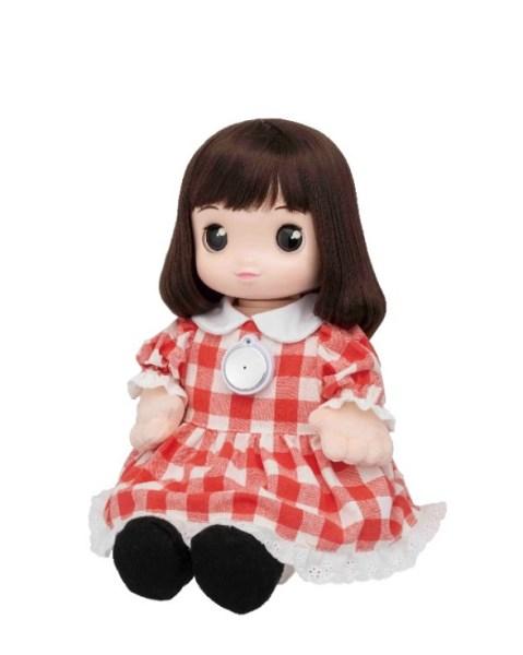 顔認識機能搭載のシニア向けコミュニケーション人形「うちのあまえんぼ あみちゃん」