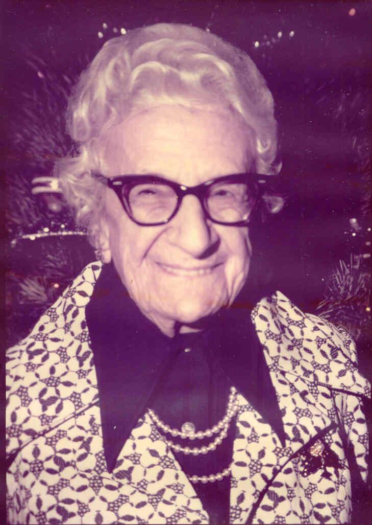 June 20, 1885 - March 16, 1987  Mother of Fran Kretschmer