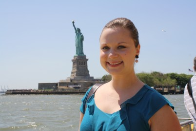 Me with the Statue of Liberty in the background.