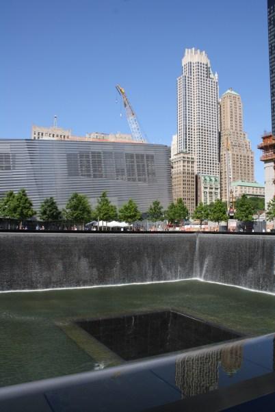 The World Trade Center Memorial.