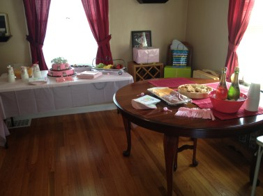 Getting my dining room ready - they had quite a spread!