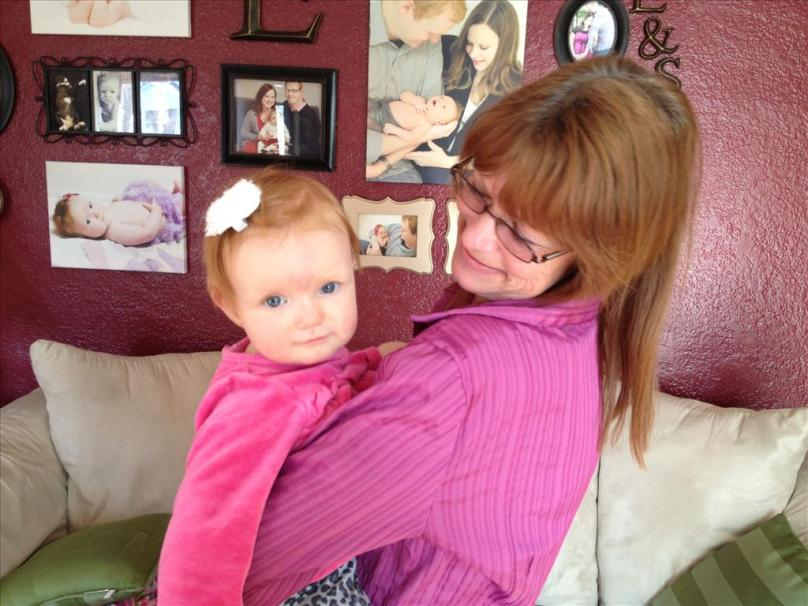 With Grandma Mel!