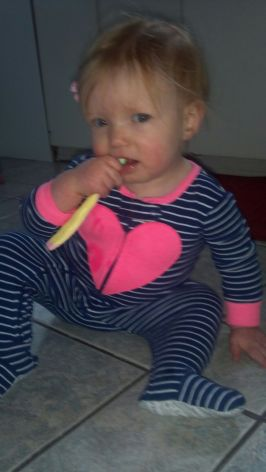 Even brushing her teeth.