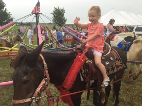 You had no reservations about hopping on the pony ride.
