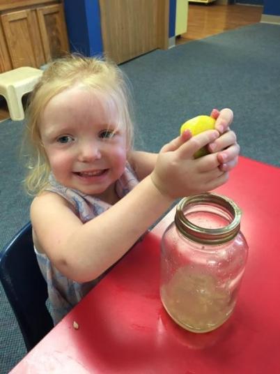 Lemonade stand day at school.