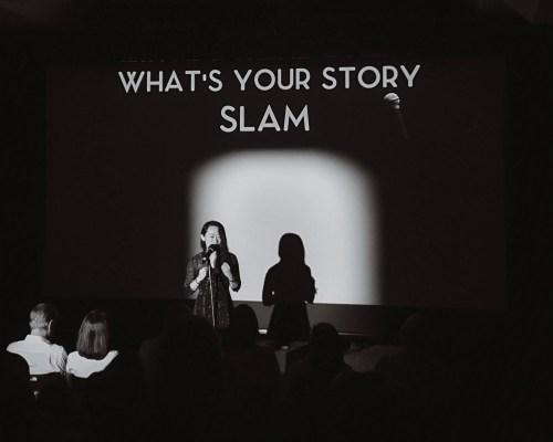 Story Slam black and white 2