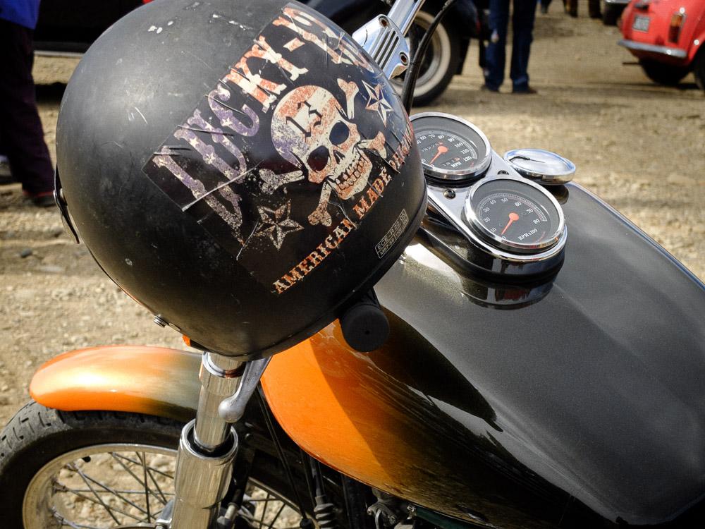 helmet and harley davidson detail