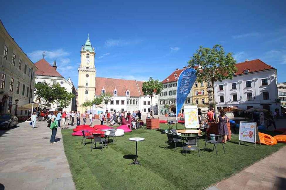 Slovakia Town Square