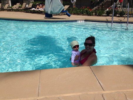 Mom and Ry swimming