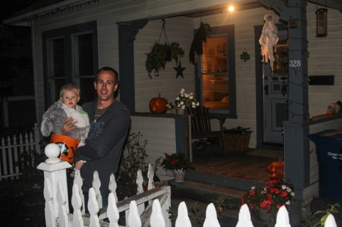 Ry first house trick or treating