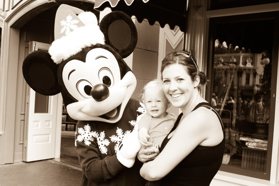 Meeting Mickey Mouse.