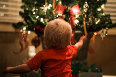 Christmas tree un decorating