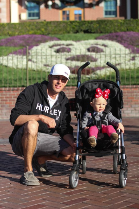 Josh & Ry. The entrance gates to Disneyland