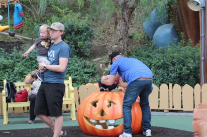Bob, Grandpa and the kids in ToonTown