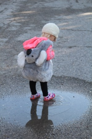 I found a puddle.
