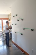 Iron fitting now attached to wall.