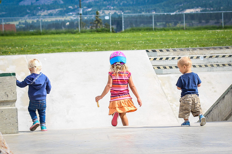 Best BC friends around! Hanging at the skatepark.