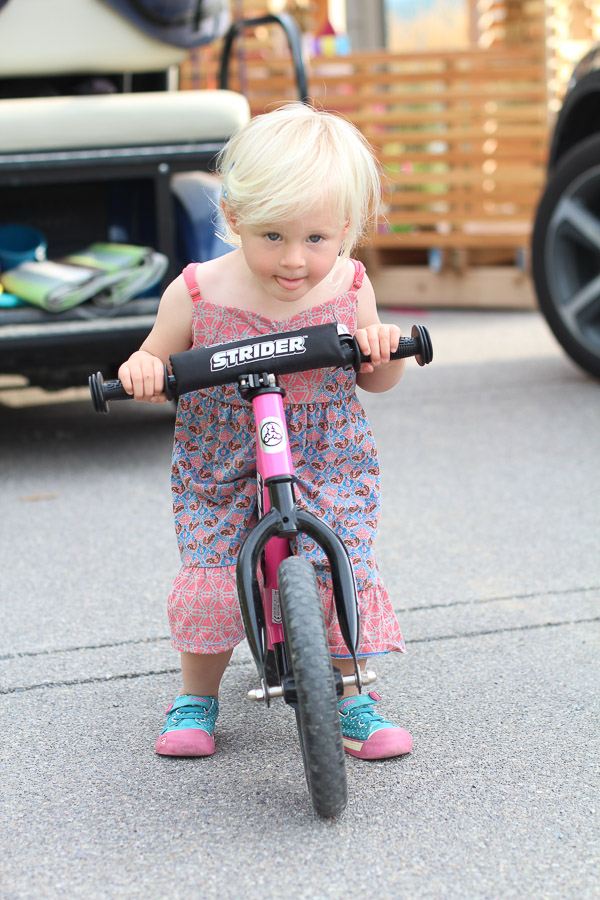 Learning to ride my strider bike