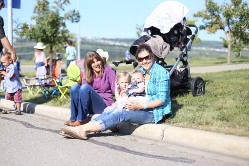 "Parade crew including ""Grandma with Molly"""