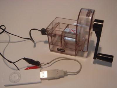 Carregador manual de iPod shuffle!