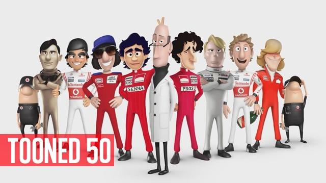 Tooned 50 traz Ayrton Senna em desenho animado