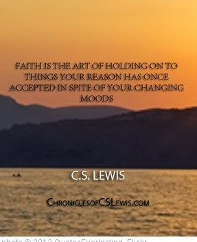'''Faith is the art of holding on to things your reason has once accepted in spite of your changing moods'' - C.S. Lewis' photo (c) 2013, QuotesEverlasting - license: http://creativecommons.org/licenses/by/2.0/