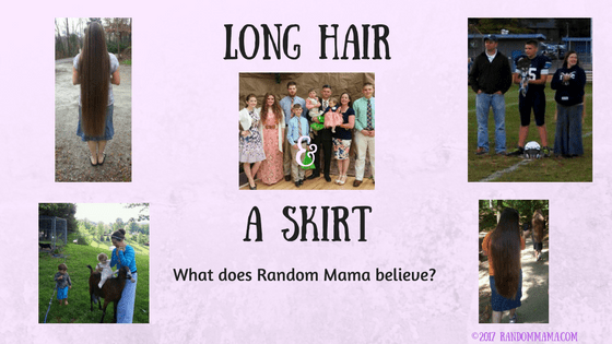 Long hair and a skirt; what does Random Mama believe? Find out here.