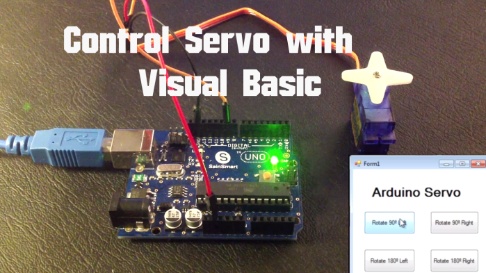 Arduino - Control Servo with Visual Basic | Random Nerd