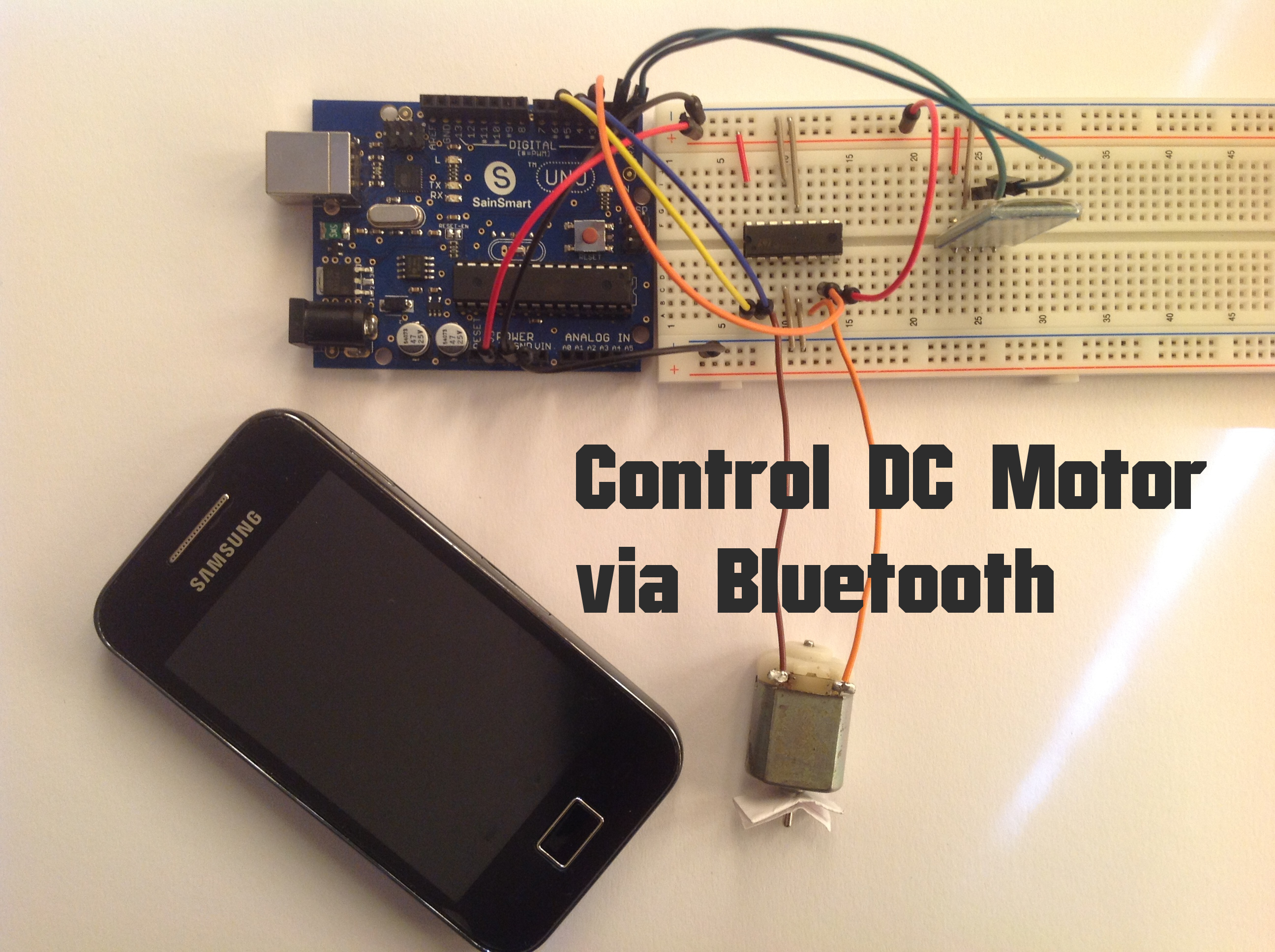 arduino control dc motor via bluetooth random nerd tutorialsTelephone Controlled Motor Page 7 Free Microcontroller Projects #15