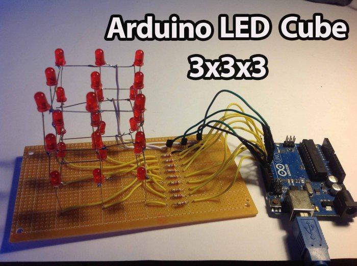 Arduino - LED Cube 3x3x3 | Random Nerd Tutorials