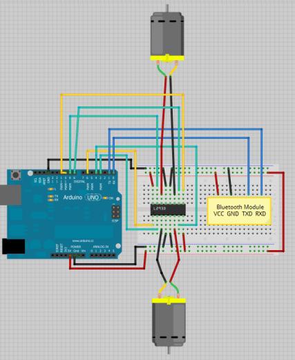 Arduino - Control 2 DC Motors Via Bluetooth   Random Nerd